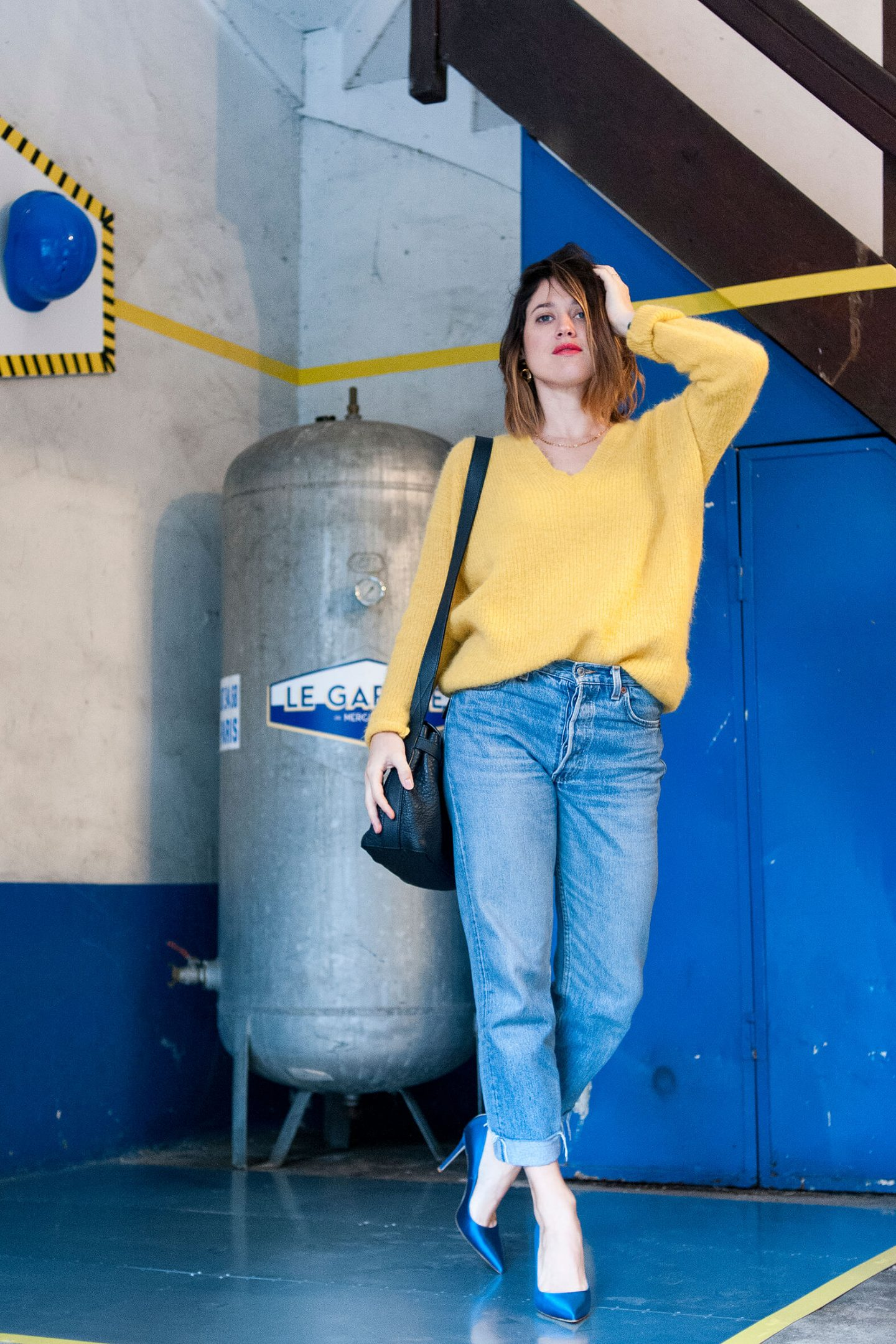 Look pull sud express jaune 501 Lévi's L'atelier d'al blog mode lifestyle Paris DIY