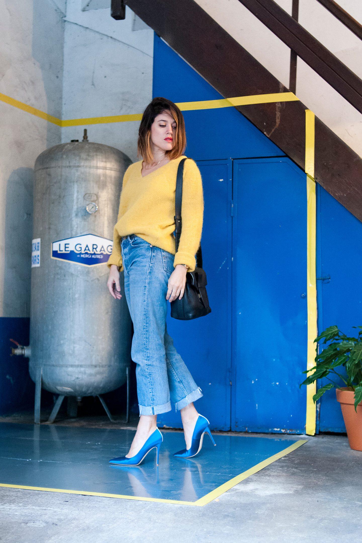Look pull sud express jaune 501 Lévi's L'atelier d'al blog mode lifestyle Paris DIY
