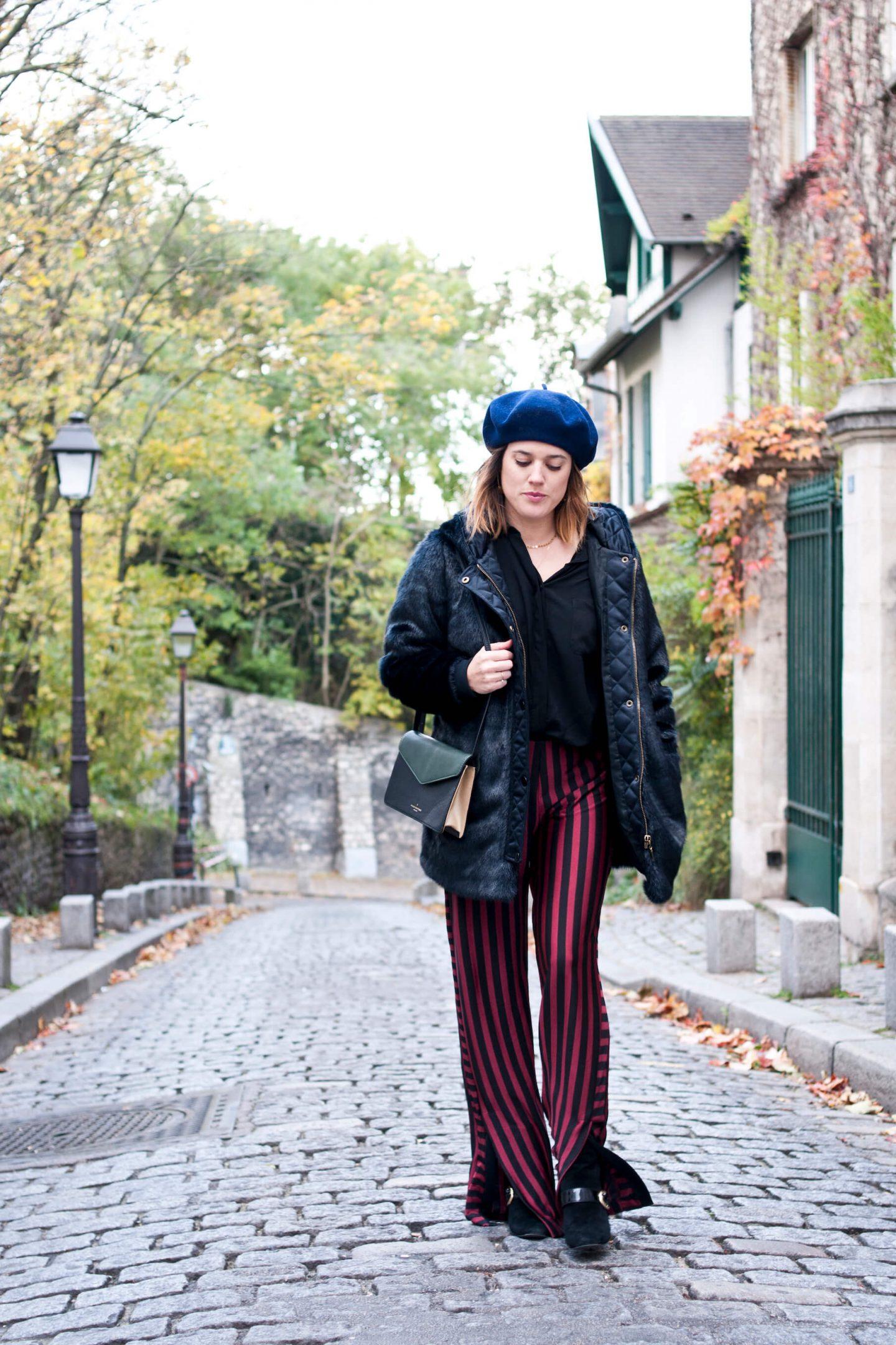 look fake fur coat manteau L'atelier d'al blog mode lifestyle Paris streetstyle Montmartre