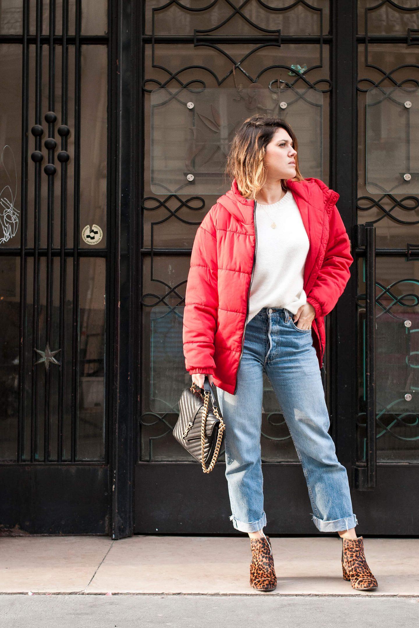 look doudoune oversize rouge L'atelier d'al blog mode lifestyle DIY Paris