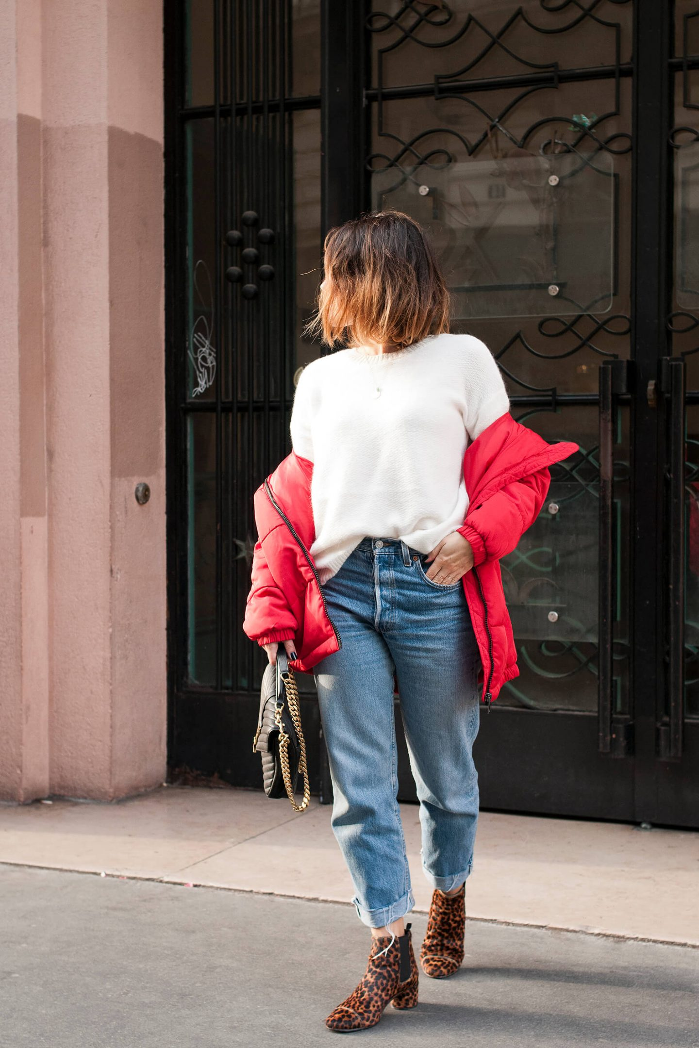 look doudoune oversize rouge L'atelier d'al blog mode lifestyle DIY Paris