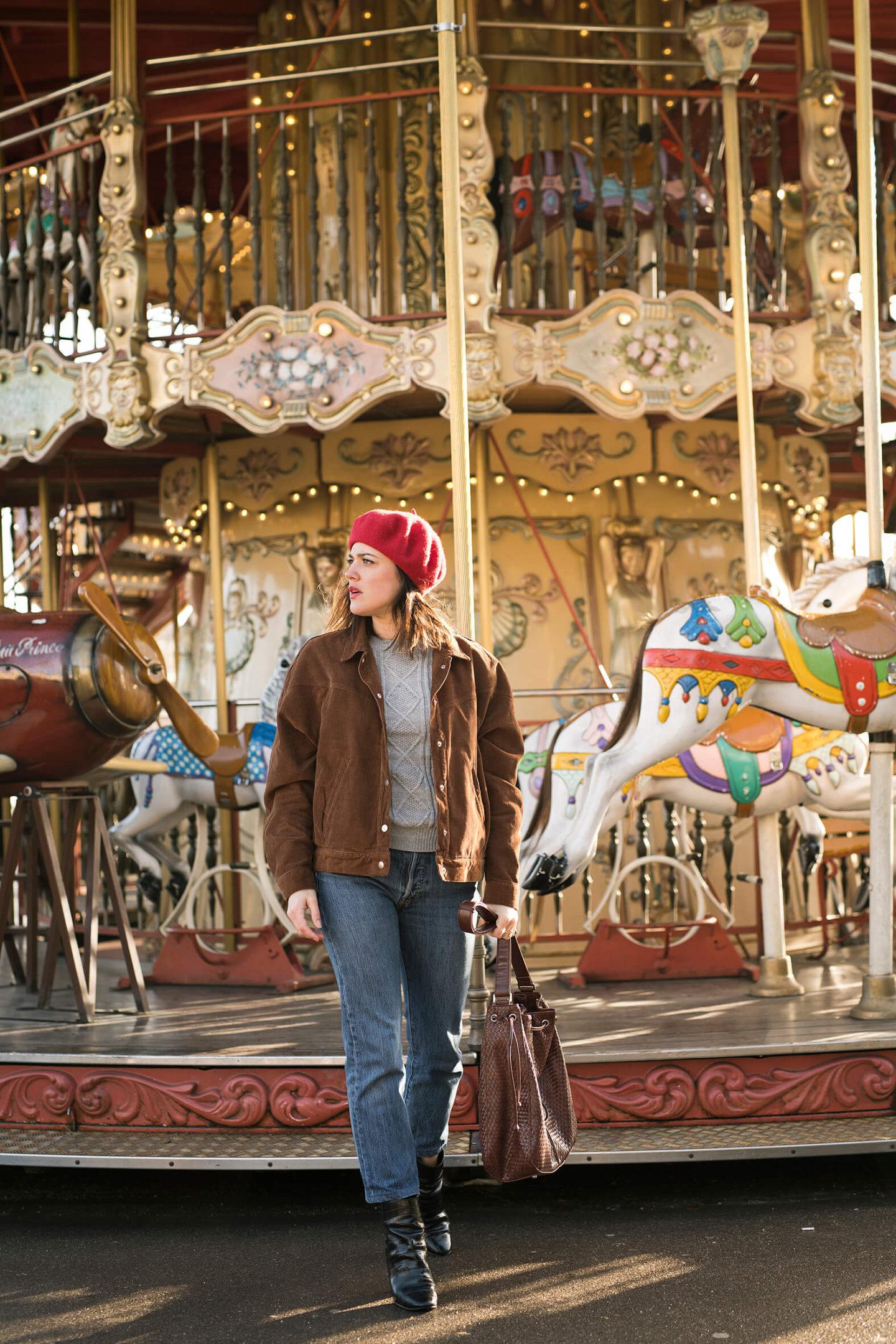 Parisian streetstyle L'atelier d'al blog mode Lifestyle Paris Carrousel