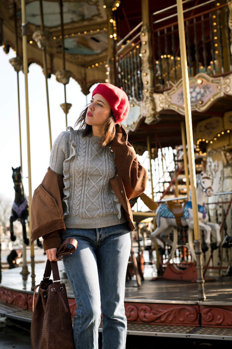 Parisian streetstyle L'atelier d'al blog mode Lifestyle Paris Carrousel