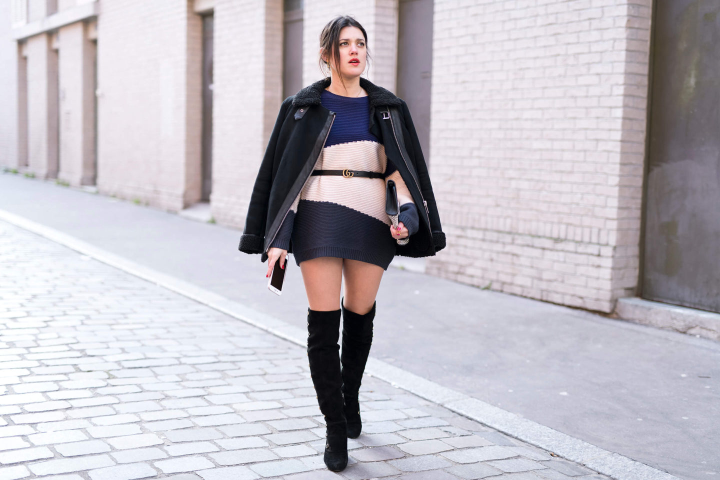 Look robe pull showroomprivé Cuissardes L'atelier d'al blog mode fashion lifestyle Street style Paris Look robe pull showroomprivé Cuissardes L'atelier d'al blog mode fashion lifestyle Street style Paris