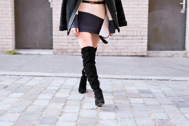 Look robe pull showroomprivé Cuissardes L'atelier d'al blog mode fashion lifestyle Street style Paris