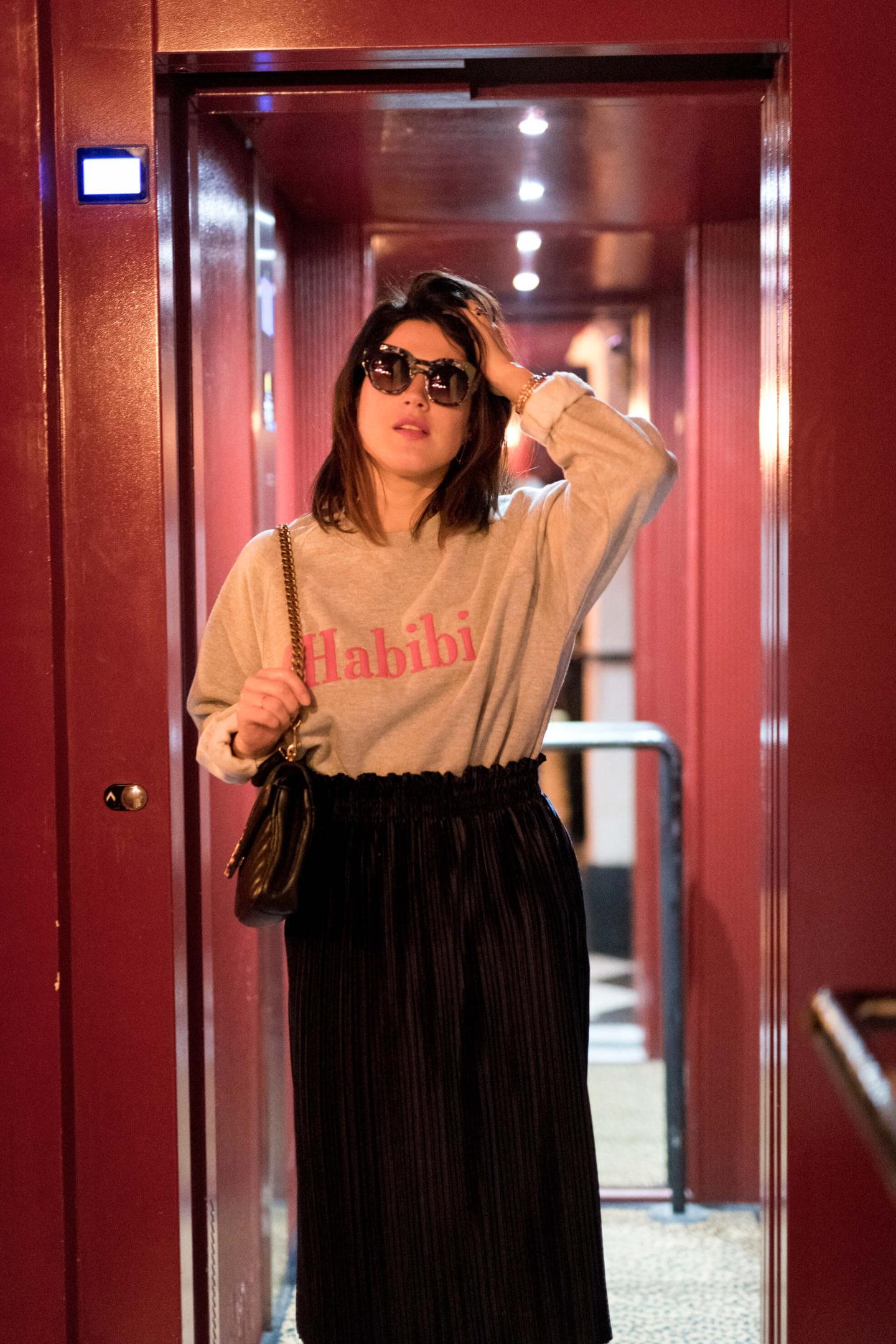 Shooting Pigalle Hôtel sweat das Mot Paris L'atelier d'al blog mode lifestyle