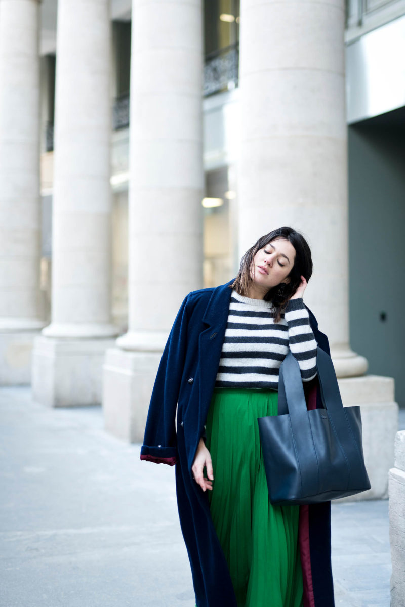 Comment parler un manteau extra long L'atelier d'al look blog mode lifestyle fashion DIY Paris streetstyle