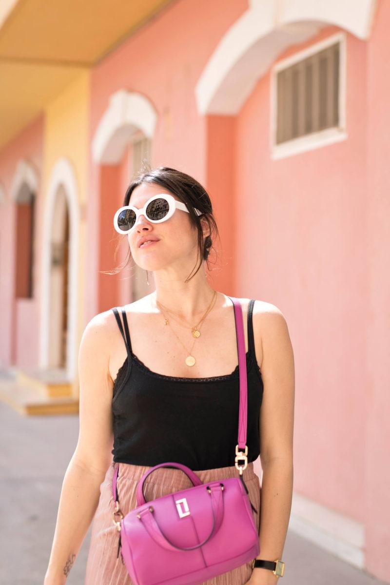 Jupe culotte rose look de printemps L'atelier d'al blog mode lifestyle Paris