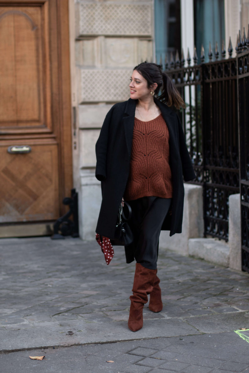 Look de grossesse automne Anne-laure L'atelier d'al blog mode fashion lifestyle Paris