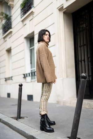 3 tenues avec un pantalon à carreaux déniché sur Zalando Privé Latelierdal blog mode lifestyle Paris Bordeaux fashion