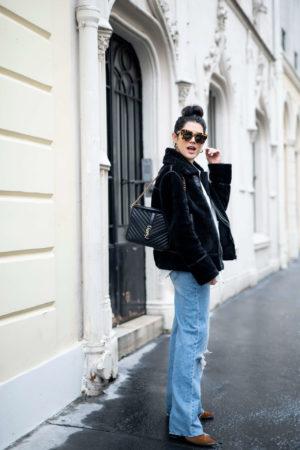 Tenue du jour basiques blue jean chemise blanche veste noire anne-laure l'atelier d'al blog mode lifestyle paris bordeaux